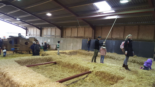 Swign over straw pit play barn