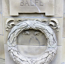 banstand  relief carving of Balfe