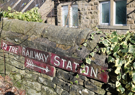 Station wall sign