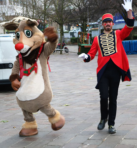 Rudolph and trainer