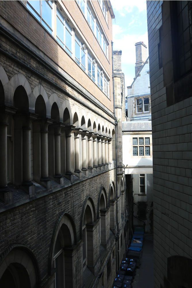 Bradford city hall courtyard