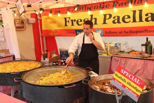 Fresh paella stall Saltaire festival