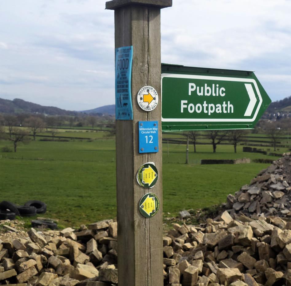 Millenium way signpost