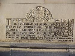 Bradford Town Hall Foundation Stone