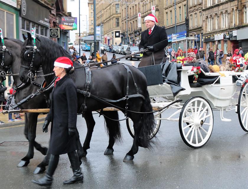 Horse drawn carriage Sunbridge Road Bradford