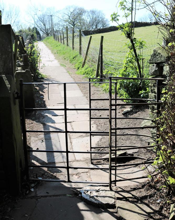 Church gate Haworth