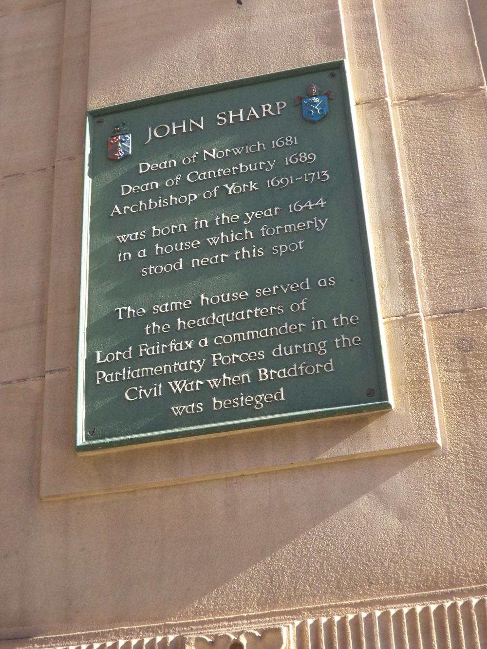 John Sharp blue plaque IvegateBradford