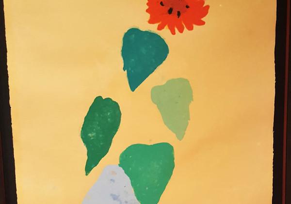 Hockney sunflower paper pool.jpg