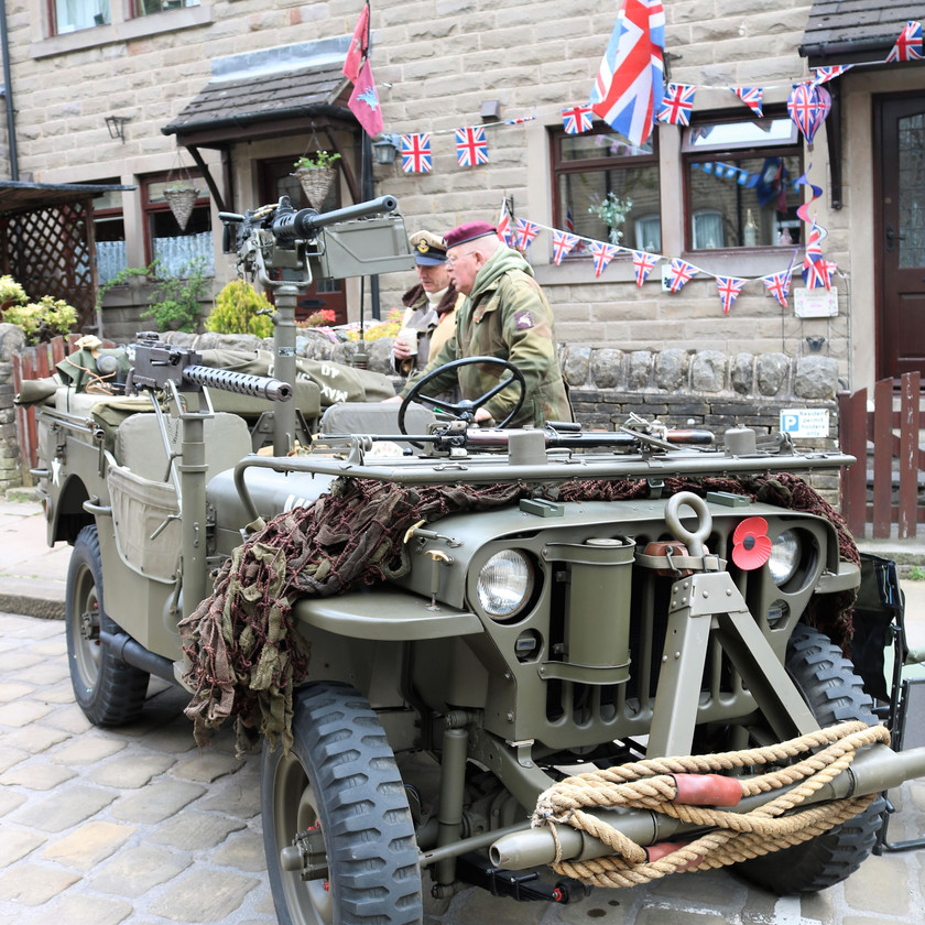 Jeep with mounted weapons