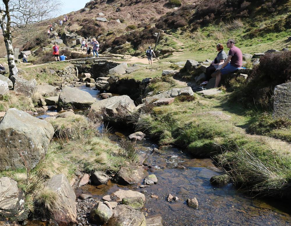 People resting by Bronte bridge