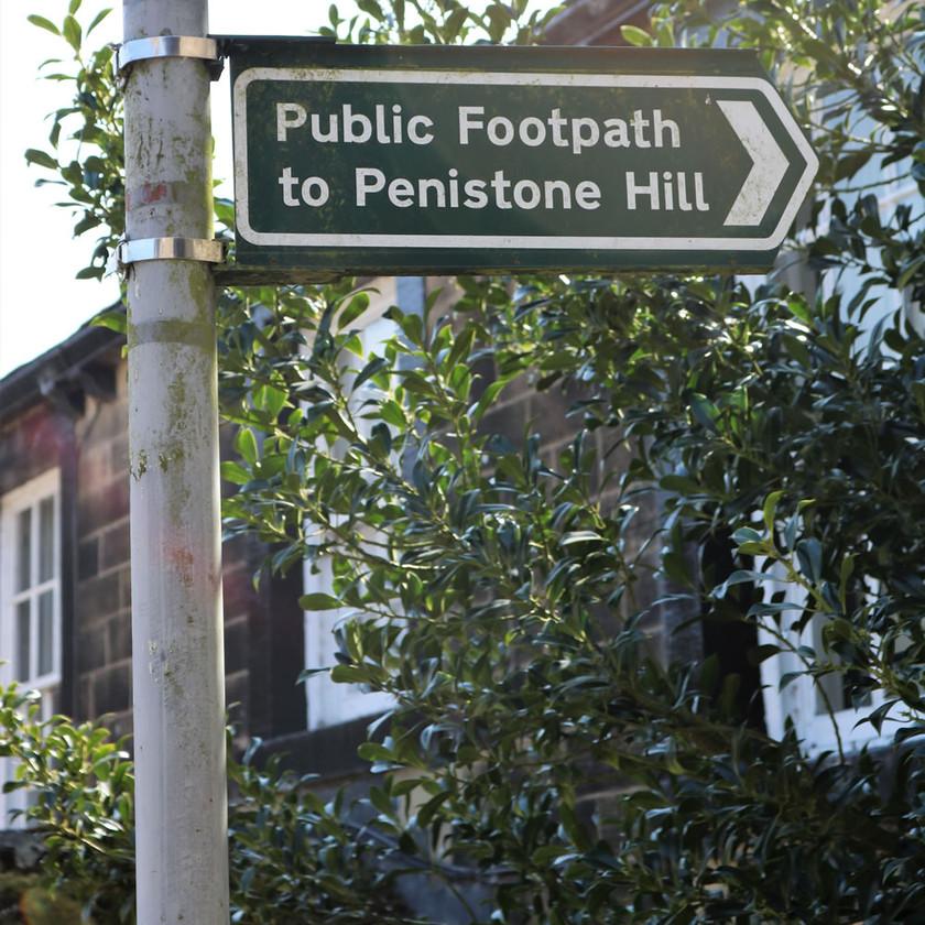 Penistone Hill signpost