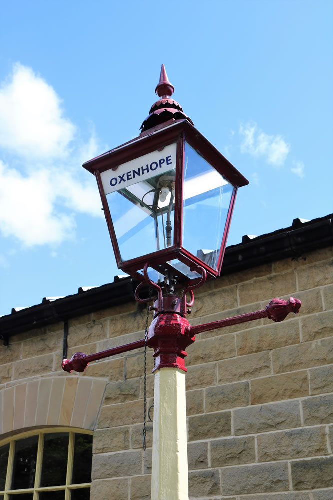 Oxenhope station lamp