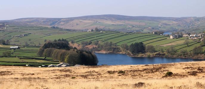 Lower Laithe Reservoir near the Bronte beauty spot of Haworth.