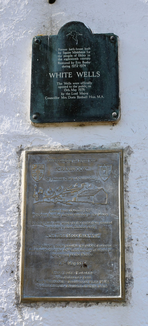 White wells spa plaque