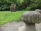Wood mushroom carving st Ives Bradford
