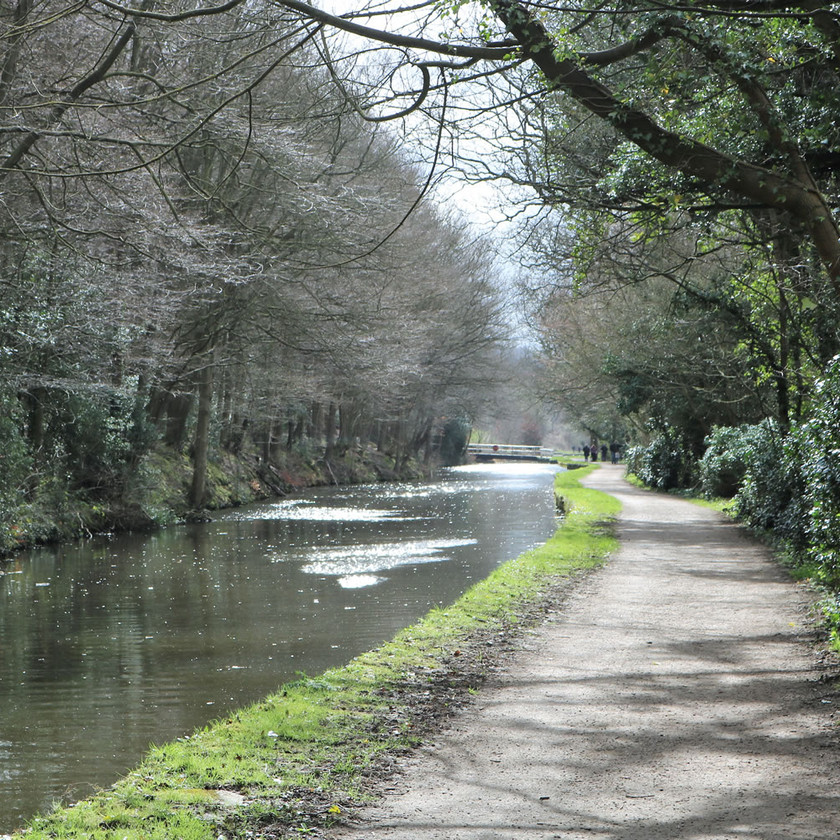 Canal towpath Esholt Bradford