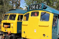 Caisteal Dhun Eideann & BR Blue Class 25
