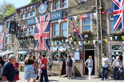 The Fleece In with bunting
