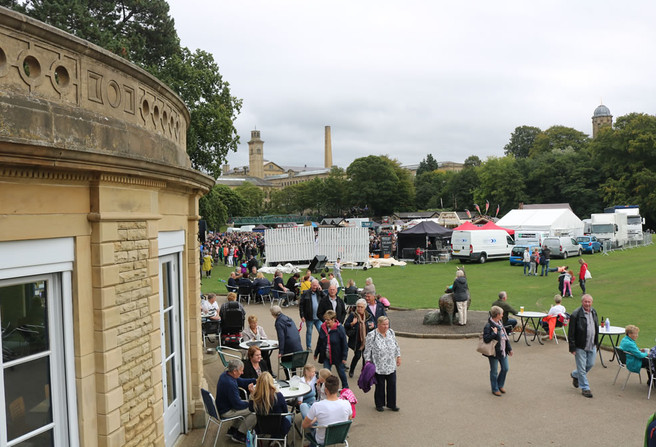 Cafe Roberts park Saltaire festival 2018