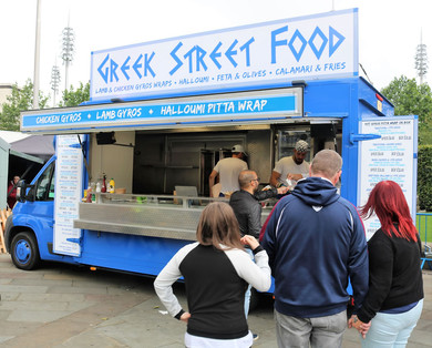 Greek street food Bradford food festival 2019
