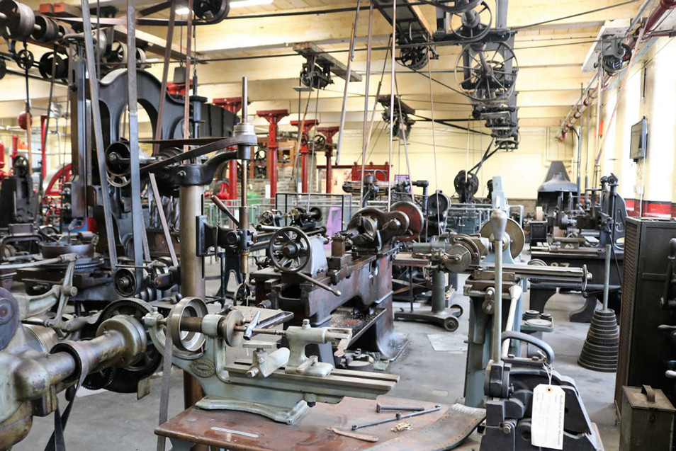 Industrial museum Machinery Line shaftin