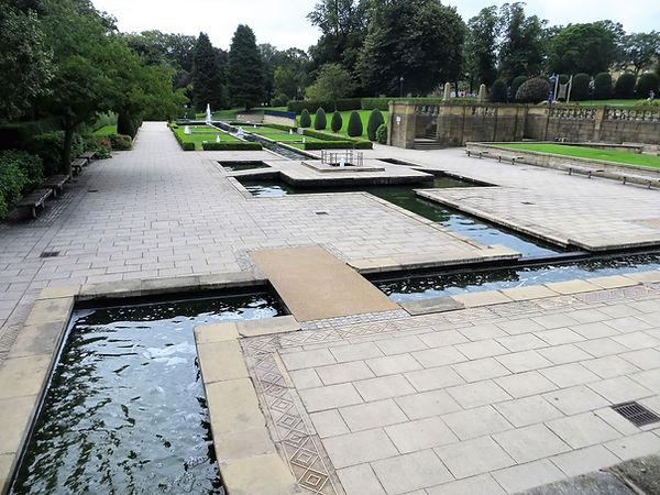 Mughal garden water feature