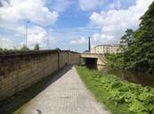 Park Bridge crosses the railway, the A650 Trunk Road