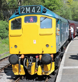 Class 25 25059 in BR Blue at Oxenhope