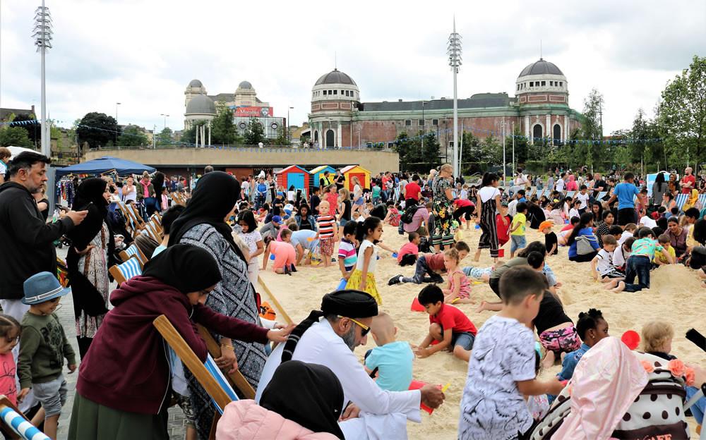Urban beach as part of Bradford festival 2019
