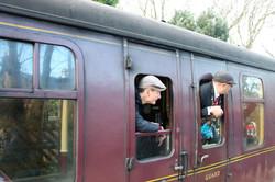 Steam train carrige