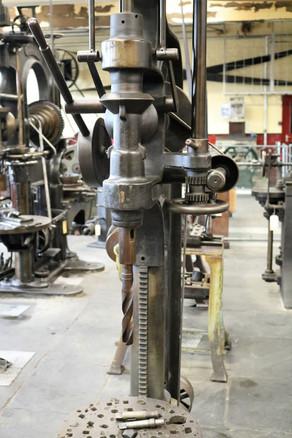 Industrial museum Machinery pillar drill