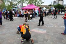 Love chalk Bradford Pride