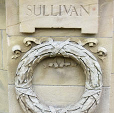 banstand  relief carving of sullivan