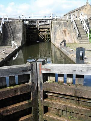 lDobsons lock gates Leeds Liverpool Canal