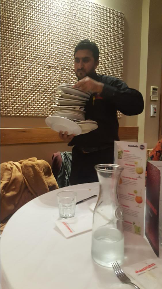 Aagrah midpoint Bradford waiter
