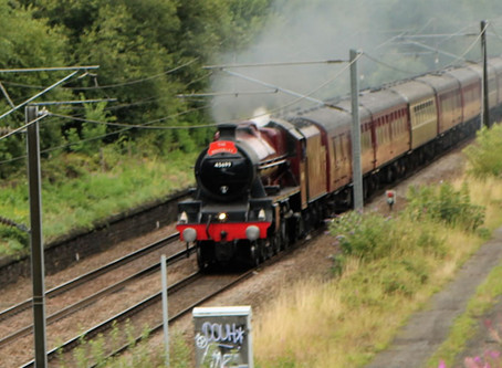 The Waverley Steamer passes through Shipley  Aug 2019.