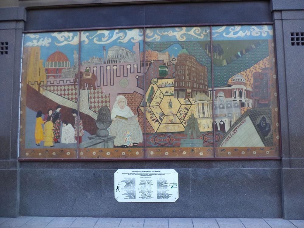 Bradford city centenary walk mural