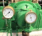 Pressure and tachometer gauges on 'Victor'