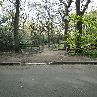 Entrance to buck woods