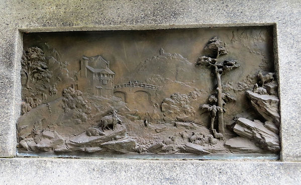 Samuel Cunliffe Lister relief carving