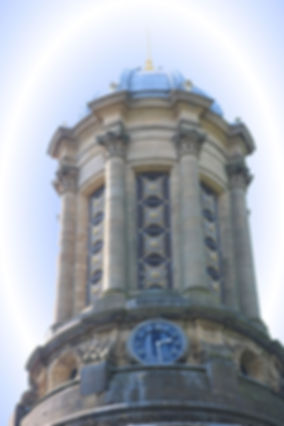 Fretted tower with cupola