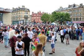 Gay pride gathering Bradford 2019