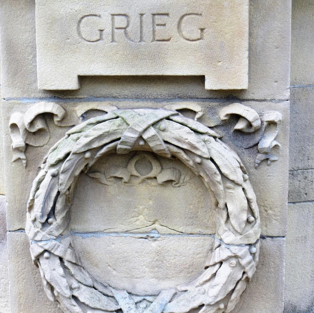 banstand  relief carving of Grieg