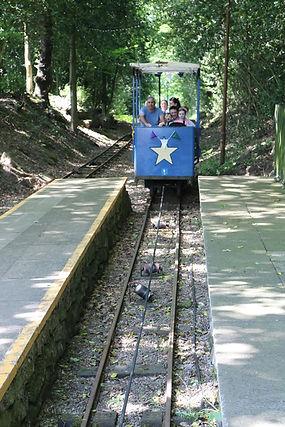 shipley tramway blue tram