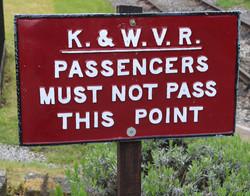 Sign at end of platform Oxenhope station