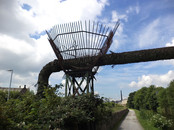 Pipe over Leeds Liverpool canal