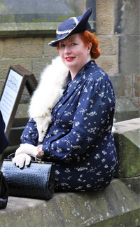 Woman in Historic costume Haworth 1940s