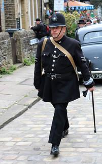 Police themed costume Haworth 1940s