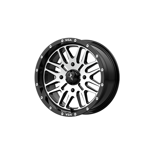 MSA OFFROAD WHEELS BRUTE GLOSS BLACK MACHINED