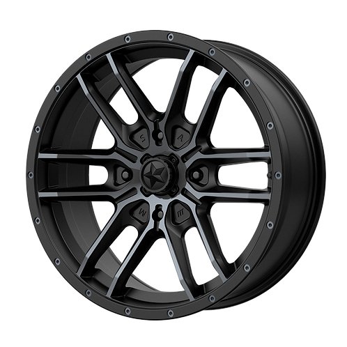 MSA OFFROAD WHEELS FANG SATIN BLACK W/ TITANIUM TINT